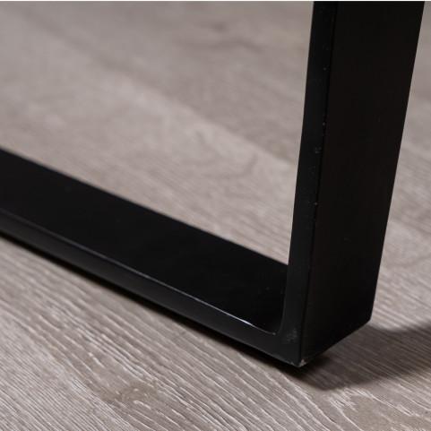 Стол лофт из массива большой с живым краем, ДЖИВАН life black