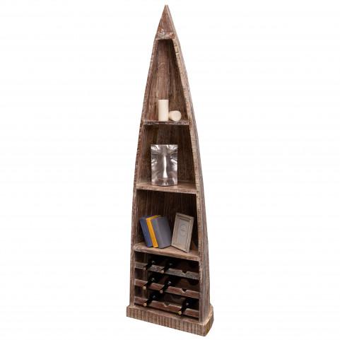 САГАР, стеллаж лофт с отделением для хранения вина, массив
