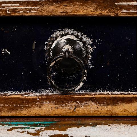 Тумба лофт из массива, МАНИША 4 ящика